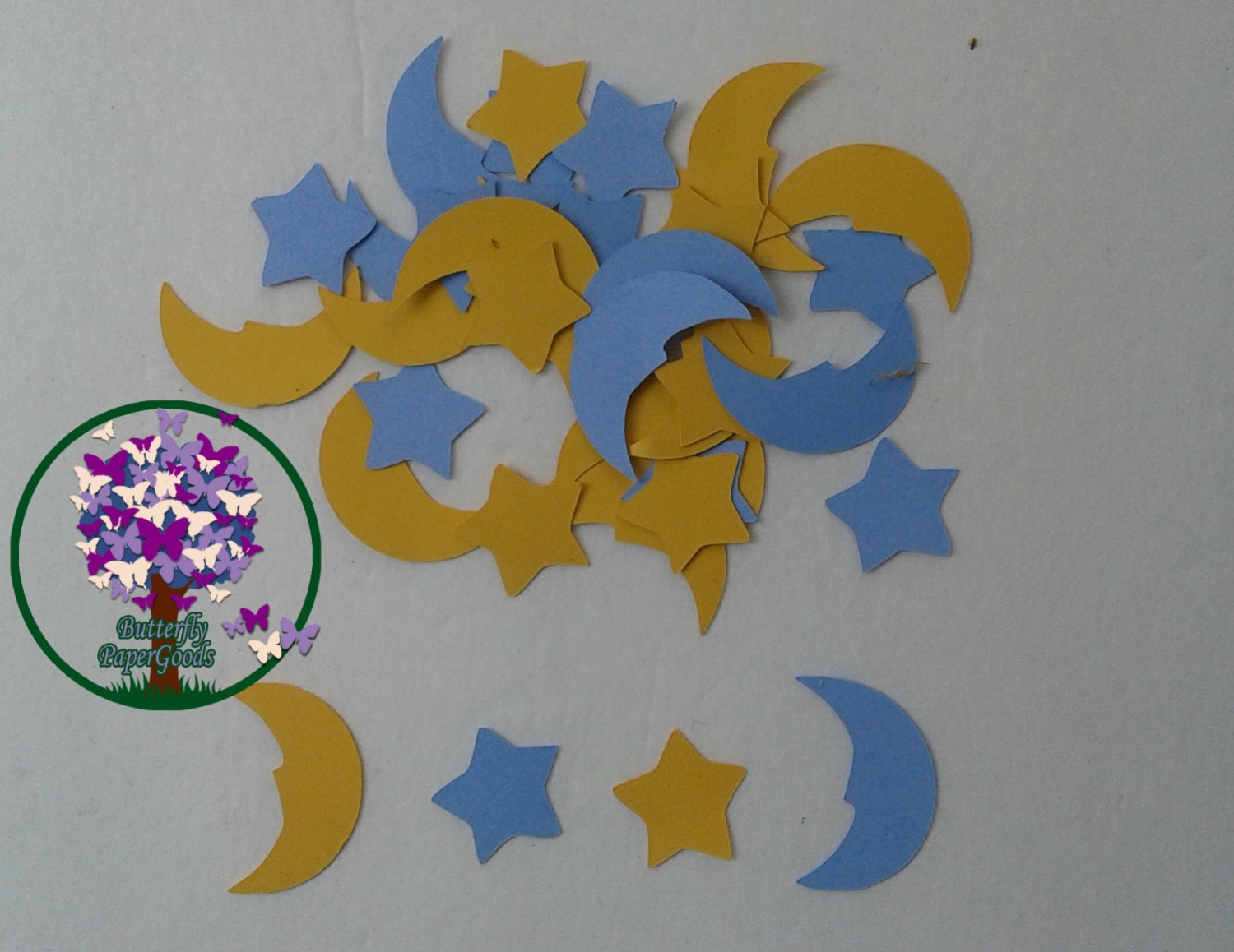 moon and stars confetti baby shower decorations twinkle