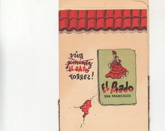 San Francisco El Prado Restaurant Pop Up Style Souvenir 1940s