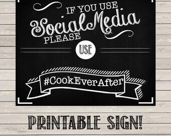 Social Media Hashtag Sign - Printable!