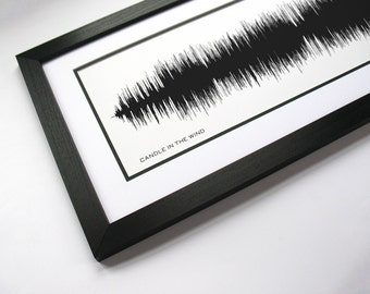 Candle in the Wind - Music Art Sound wave Print - Song Lyric Art, Band Poster