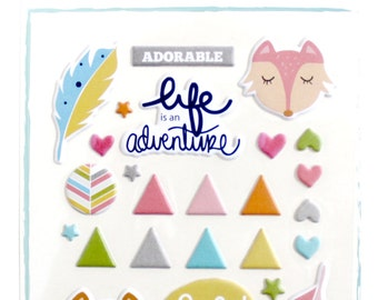 Puffy Stickers ADORABLE (10x14 cm)
