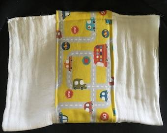 Yellow Road Burp Cloth