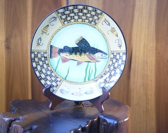 Chinese Toyo Decorative Trout Plate