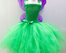Disney Tinkerbell/Vidia Fairy Inspired Costume Outfit Age's 3 up to Age 12