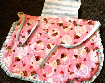 Children's ruffled apron