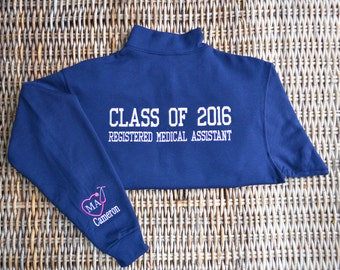Medical Assistant Pullover , Monogrammed, 2 Day Shipping!!!, Contact us for Group Pricing