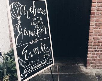 Wedding Chalkboard Welcome Signs, Modern Calligraphy