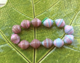 Multicolored Paper Beads