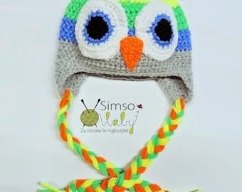 Crochet hat, Owl