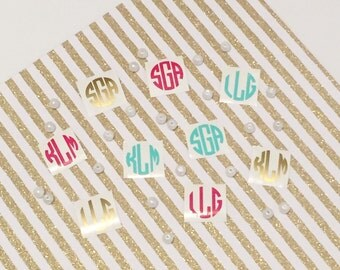 Two 1 Inch Monograms