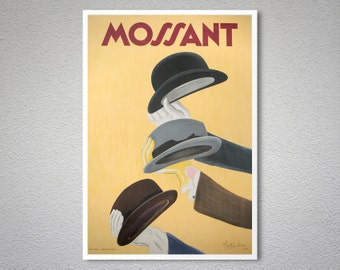 Mossant  Fashion Poster by Leonette Cappiole - Paper, Sticker or Canvas Print