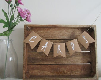 Wedding Cards Banner | Rustic Bunting | Card Box Banner