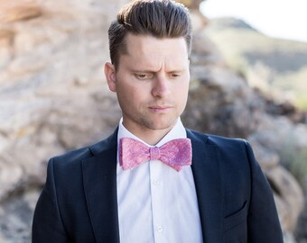 Bow Tie, Solid Red Men's Bow Tie