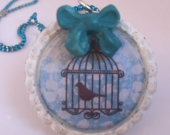 "necklace ""Bird in a Cage"" Code BIACB3"