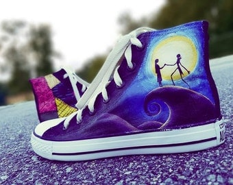 Nightmare Before Christmas Converse High Tops