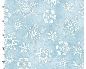 Frolic in the Snow Cotton Flannel by Kris Lammers for Maywood Studios MASF8704-B YARD Cut