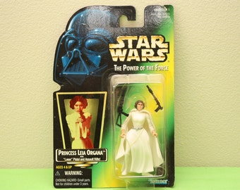 Star Wars - Princess Leia with Laser Pistol & Assault Rifle Action Figure - New in Original Box!