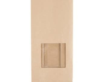 Tin Tie Window Bags - Kraft Window Bags - Coffee Bags - Grain Bags - Cookie Bags - Bakery Bags - 1 pound bags