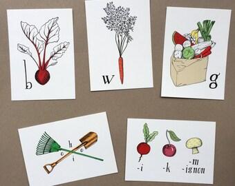 Dutch vegetables cards