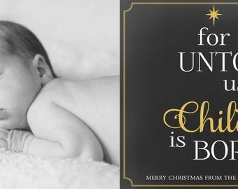 Doyle Christmas Card (8x4 PRINTABLE)