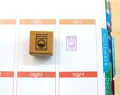 Planner stamps,planner stamp,hobonichi,erin condren stamps,filofax,japanese stationery stamps,frixion stamp,japanese stamp,Washing Machine