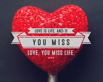 Valentine's Day - love print