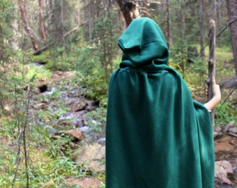 Lord of the Rings Elven Cloak - (green) >> medieval > cosplay > fantasy > costume > ranger > wool > fleece