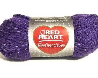 Purple neon yarn, reflective yarn, Red Heart, bulky yarn, crochet yarn, knitting yarn, glow in dark yarn, thick yarn, craft yarn, loom yarn