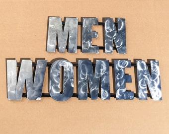 Custom MEN/WOMEN restroom signs