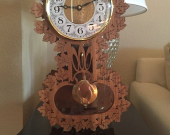 Scrollwork/Fretwork Wood Clock