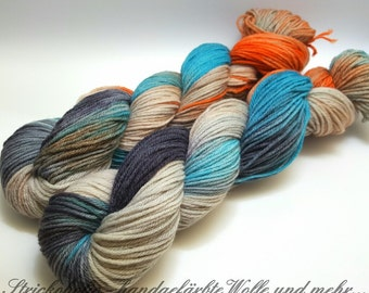 Hand-dyed wool with Merino 50gr.