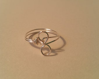 Wire wrapped ring size P.