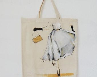 hand painted {chasing Dreams } tote bag