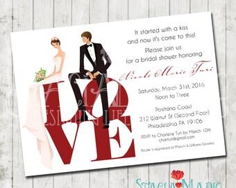 LOVE Bridal Shower Invite