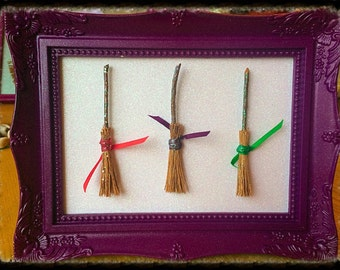 Mini Besom Broom handmade frame, Witch, Pagan.