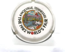Knoxville Tennessee, World's Fair 1982 Ashtray, Collectible Souvenir