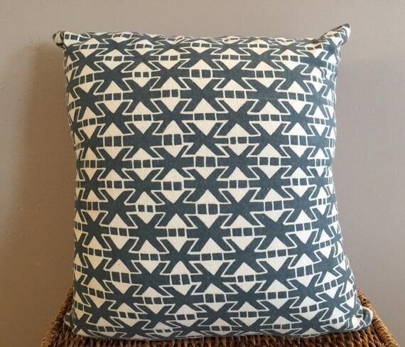 Organic Throw Pillow Inserts : Denim Blue Organic Throw Pillow Insert Removable Cover