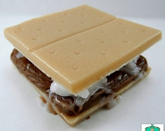 S'mores Soap Bar - Food Soap, Summer Soap, Smores Soap, Dessert Soap, Kids Soap, Vegan Soap, Camping Soap, Campfire Soap