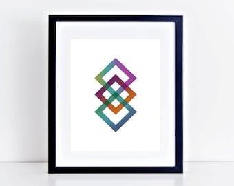 Infinity 1 White Print