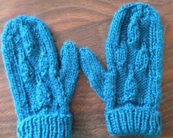 Hand Knit Children's Mittens
