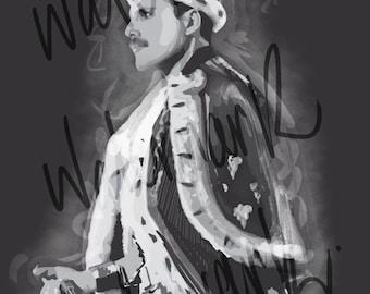 Freddie Mercury - A4,A3,A2 Poster