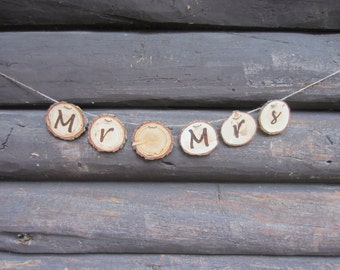 Rustic Mr and Mrs Banner, rustic wedding decor, country wedding decor, rustic wedding banner, Mr and Mrs banner, wedding banner, wood banner