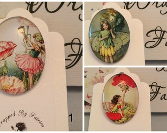 Pretty Flower Fairies Brooches/Pins.