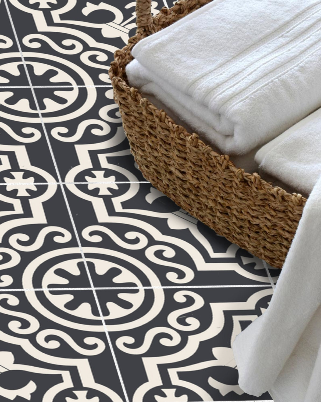 tile sticker for kitchen bath floor wall waterproof. Black Bedroom Furniture Sets. Home Design Ideas