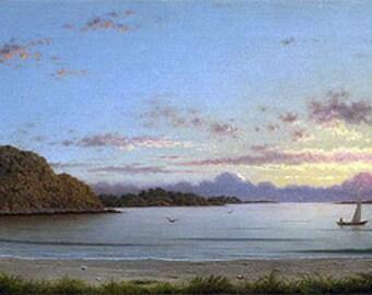handpainted martin johnson heade Dawn, 1862 by Martin Johnson Heade landscape oil painting reproduction for home decor wall art