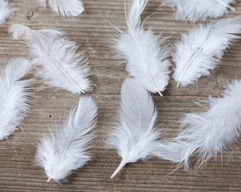 White Feathers, Wedding Feathers, Weddings Decor, Feathers for Garland, Boho Feathers, Bohemian Wedding Decor, Natural White Feathers