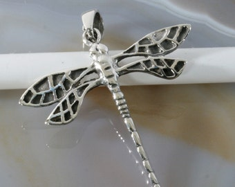 Dragonfly, silver pendant - 6229