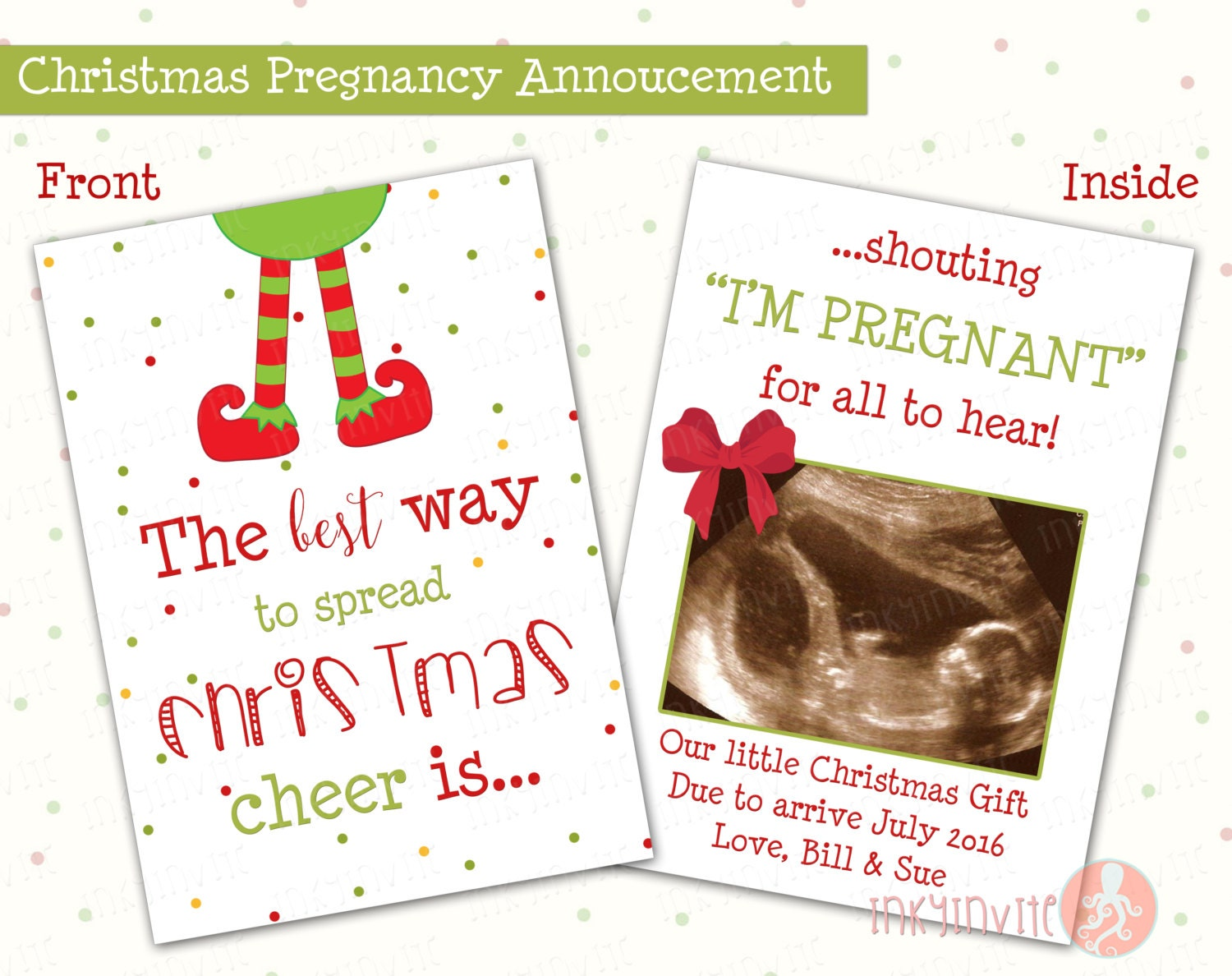 Pregnancy Announcement Card: Pregnancy Announcement Christmas Card The Best Way To Spread