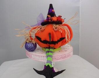 Pumpkin head witch