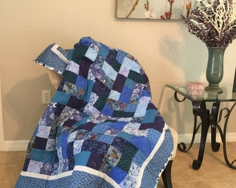 Flowing Waters quilted throw FREE SHIPPING
